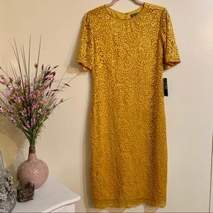 Sharagano New York Lace Overlay Dress size 8
